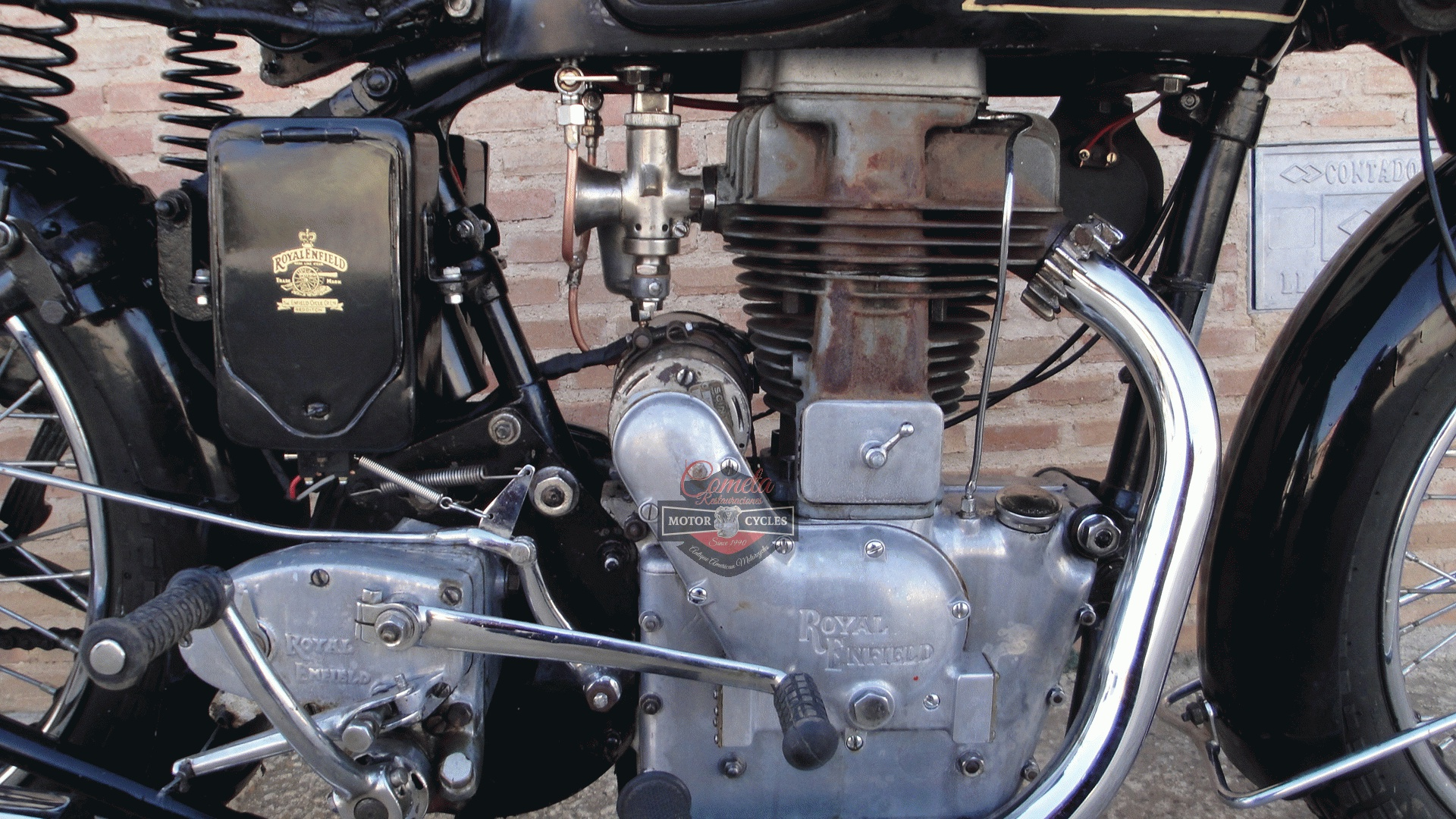 ROYAL ENFIELD J 500 OHV AÑO 1936  CON SIDECAR
