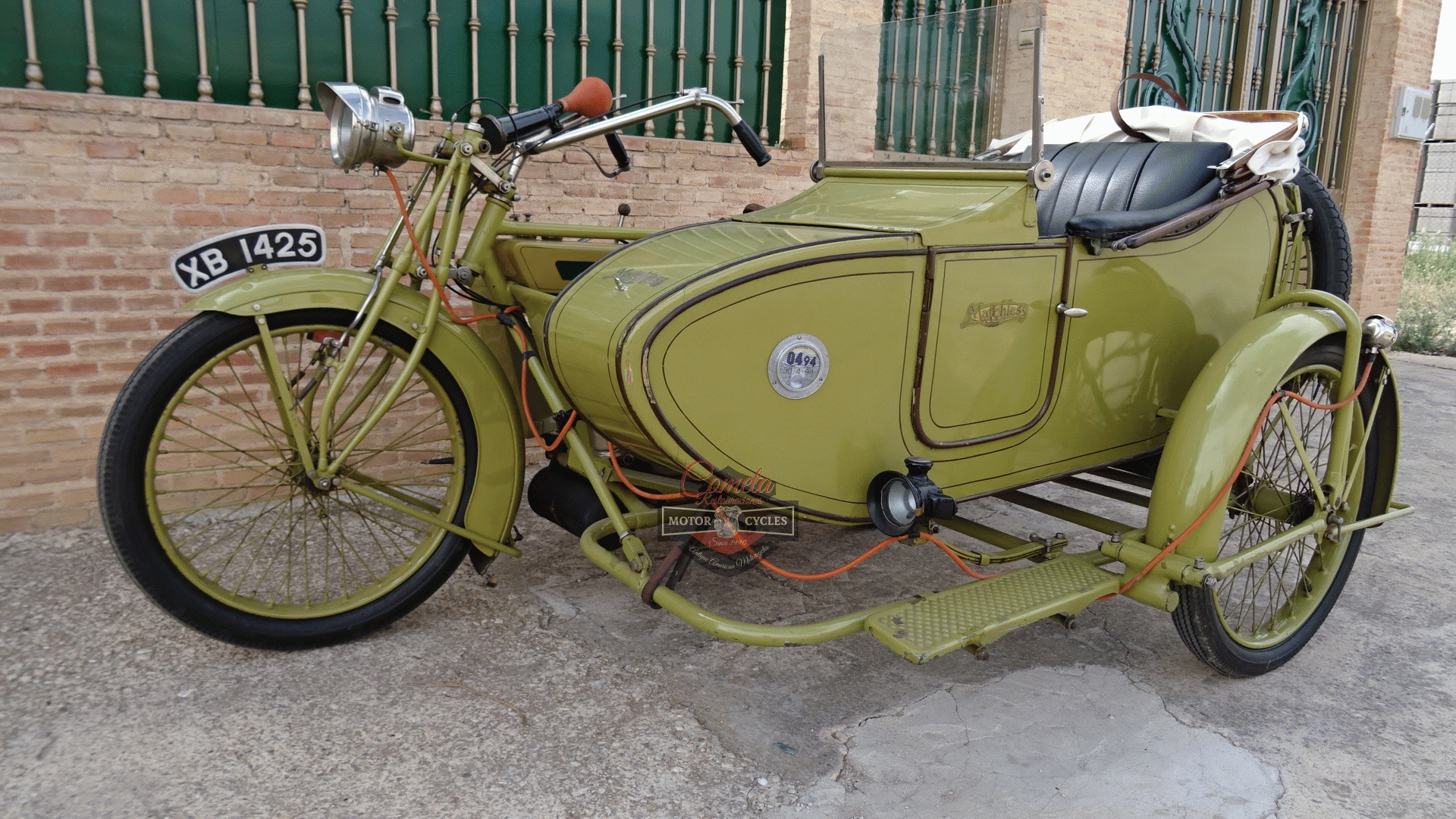 MATCHLESS MODEL H  MOTOR MAG 1000cc IOE CON SIDECAR AÑO 1921 !