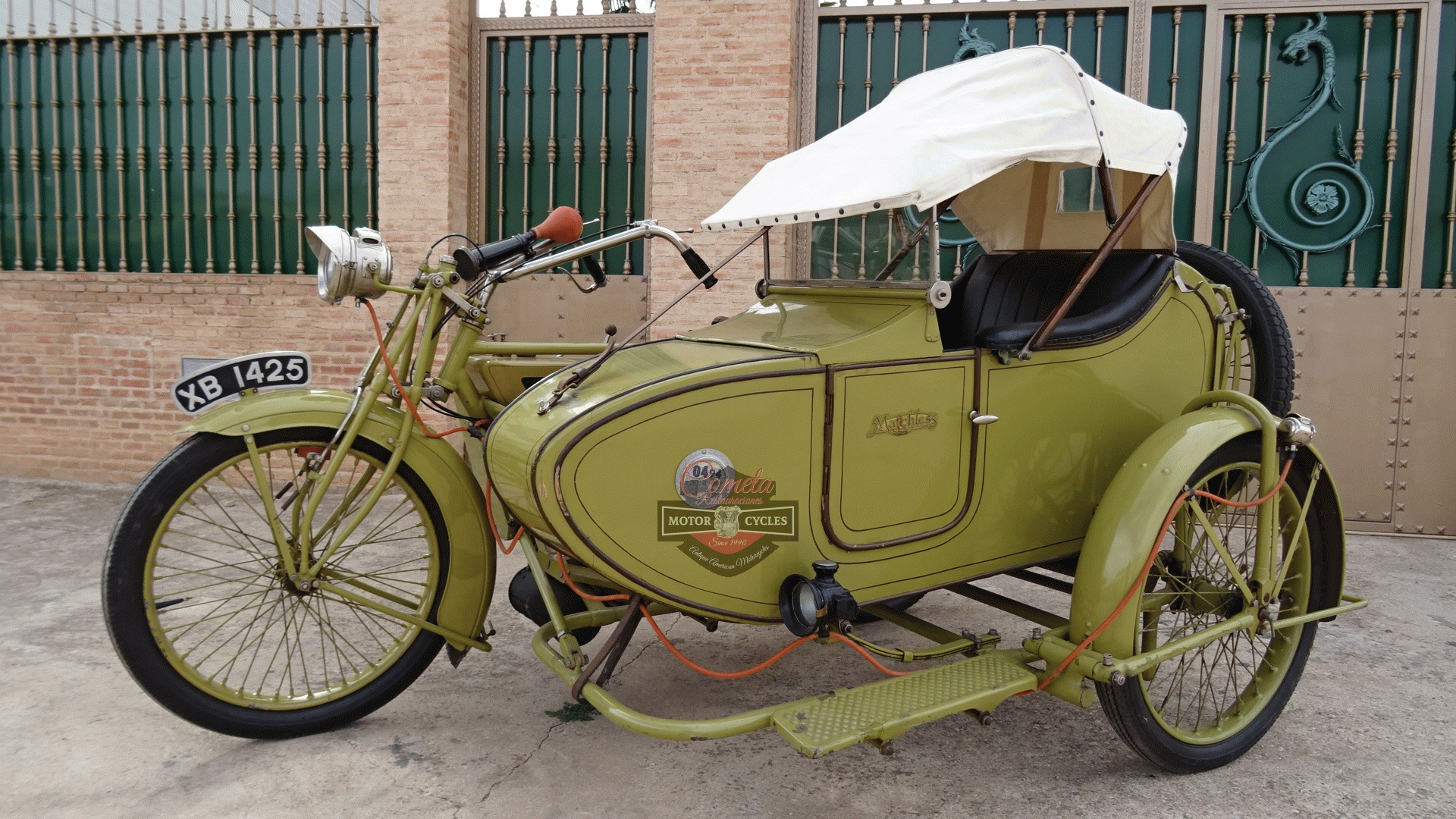 MATCHLESS MODEL H  MOTOR MAG 1000cc IOE CON SIDECAR AÑO 1921