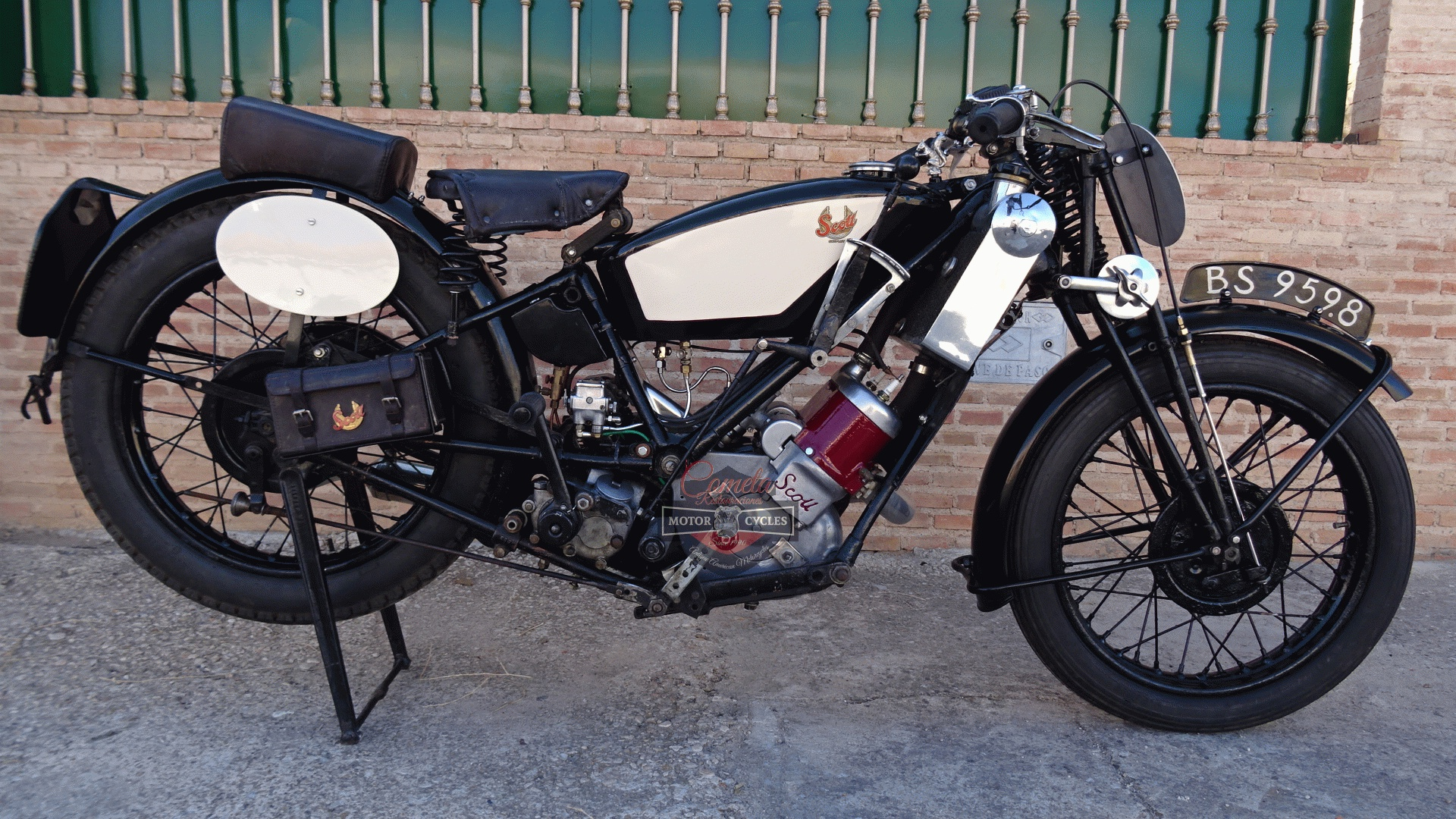 SCOTT FLYING SQUIRREL  596cc TIPO TT RACER AÑO 1926 !