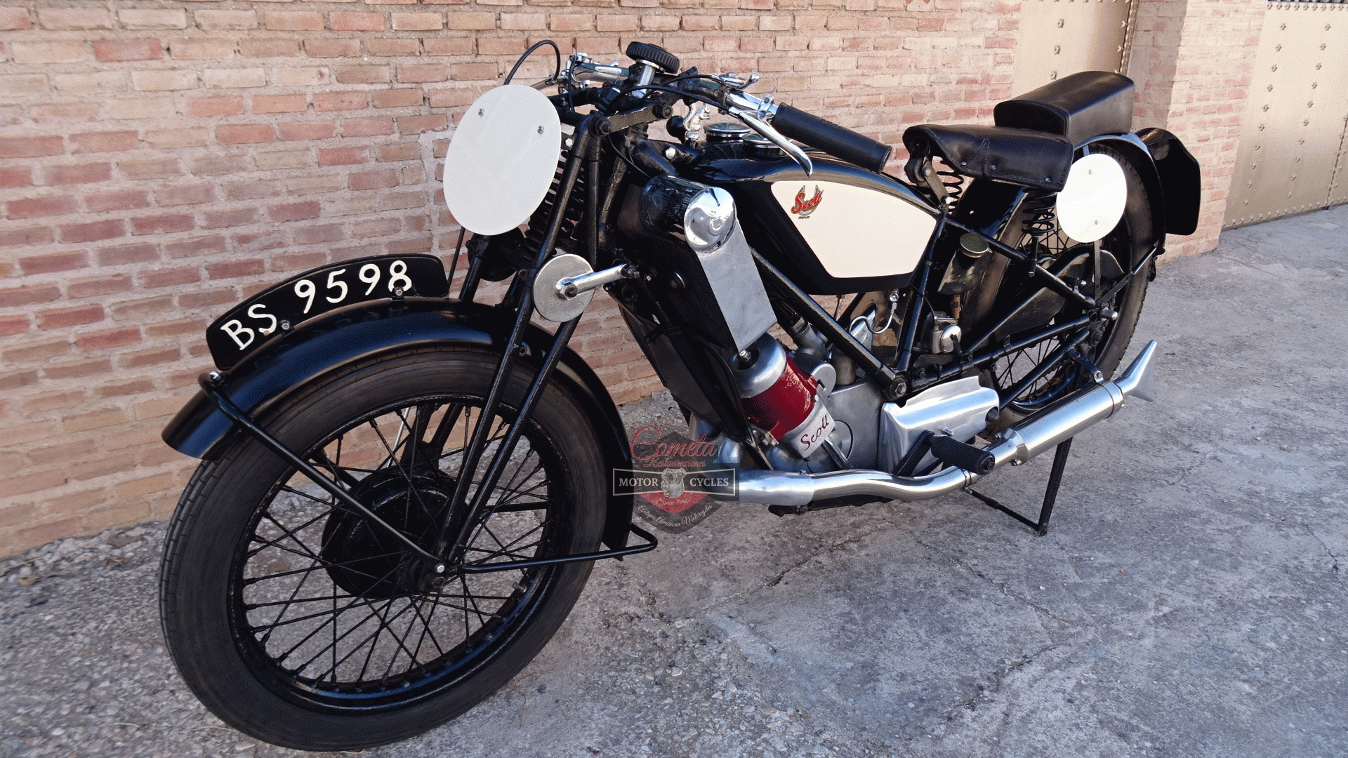 SCOTT FLYING SQUIRREL  596cc TIPO TT RACER AÑO 1926